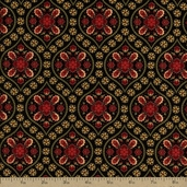 Contessa Cotton Fabric - Black C9928
