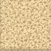 Contessa Vine Cotton Fabric - Cream