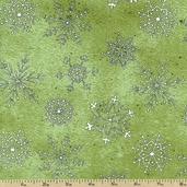 Cookie Cutter Christmas Cotton Fabric - Green 1452-43232-711