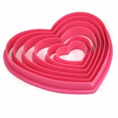 Cookie Cutter Set  Heart Shape 6 piece