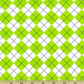 Cool Cords Argyle Corduroy Cotton Fabric - Green AAKU-12153-7