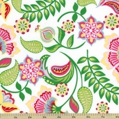 Cool Cords Corduroy Cotton Fabric - White AMFU-13484-1