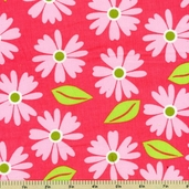 Cool Cords Floral Corduroy Cotton Fabric - Pink