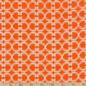 Cool Cords Link Stripe Corduroy Fabric - Orange
