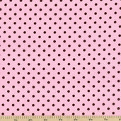 Cool Cords Polka Dot Corduroy Cotton Fabric - Blush