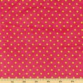 Cool Cords Polka Dot Corduroy Cotton Fabric - Lipstick UPC-6003-121