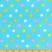 Cool Cords Polka Dot Corduroy Cotton Fabric - Powder Blue