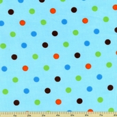 Cool Cords Polka Dot Corduroy Cotton Fabric - Turquoise