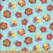 Coquette Cotton Fabric - Aqua 16063-12