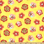 Coquette Cotton Fabric - Buttercup 16063-13