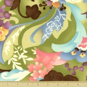 Coquette Cotton Fabric - Large Floral - Spring