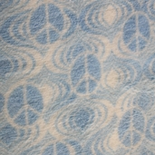 Coral Fleece Psychedelic Polyester Fabric - Blue