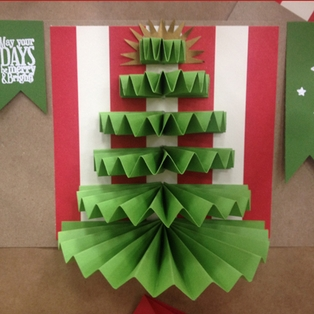 Corrugated Tree Card