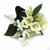 Corsage Calla Lily Mini - 12 Pack - White