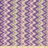 Costa De Los Flores Chevron Cotton Fabric - Lilac