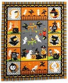 Costume Clubhouse Cotton Fabric - Party Panel - Orange