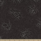 Cotillion Curls Coton Fabric - Black