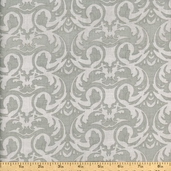 Cotillion Scroll Cotton Fabric - Grey