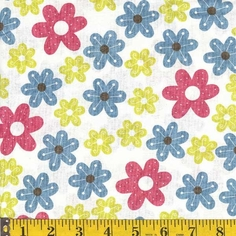 Cotton Candy Cotton Fabric - White - CLEARANCE