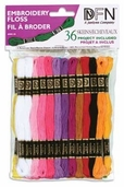 Cotton Embroidery Floss Value Pack - Pastel 36 Piece