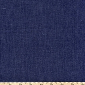 Cotton Rayon Chambray Twill Fabric - Indigo