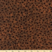 Counting Kittens Paw Prints Cotton Fabric - Brown