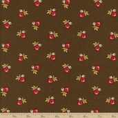 Country Manor Cotton Fabric - Brown R22 3832 0113