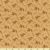 Country Manor Fern Cotton Fabric - Tan - CLEARANCE