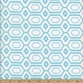 Cove Hexagons Cotton Fabric - Tide