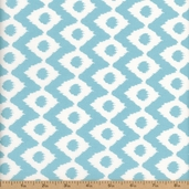 Cove Ikat Cotton Fabric - Tide