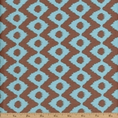 Cove Ikat Cotton Fabric - Tide/Grey
