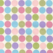 Cozy Cotton Flannel Fabric - Dots - Pastel