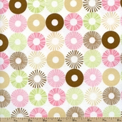 Cozy Cotton Rings Flannel Fabric - Garden SRKF-13769-238 GARDEN