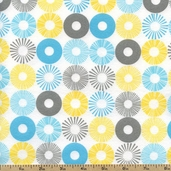 Cozy Cotton Rings Flannel Fabric - Multi SRKF-13769-205 MULTI