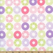Cozy Cotton Rings Flannel Fabric - Pastel SRKF-13769-198 PASTEL
