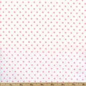 Cozy Cotton Small Dots Flannel Fabric - Pink FIN-9255-10 PINK