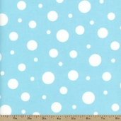 Cozy Cotton Variety Dot Flannel Fabric - Aqua