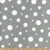 Cozy Cotton Variety Dot Flannel Fabric - Grey