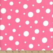 Cozy Cotton Variety Dot Flannel Fabric - Pink