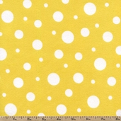 Cozy Cotton Variety Dot Flannel Fabric - Yellow