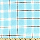 Cozy Woven Cotton Flannel Fabric - Aqua FPC-9656-70