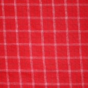 Cozy Woven Cotton Flannel Fabric - Crimson - CLEARANCE