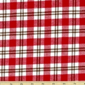 Cozy Woven Cotton Flannel Fabric - Crimson FPC-9658-91