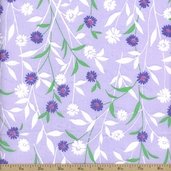 Cranston Prints Light Floral Cotton Fabric - Lavender