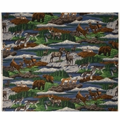 Cranston Prints Nature Scene Cotton Fabric - Green