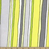Cranston Prints Stripe Cotton Fabric - Lime