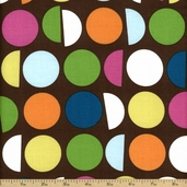 Cream and Sugar Cotton Fabric - Brown 36123-2