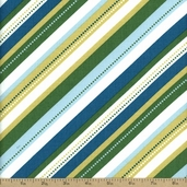 Cream and Sugar Cotton Fabric - Green 36121-1
