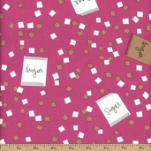 Cream and Sugar Cotton Fabric - Pink 36119-4