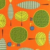 Critter Community Cotton Fabric - Retro